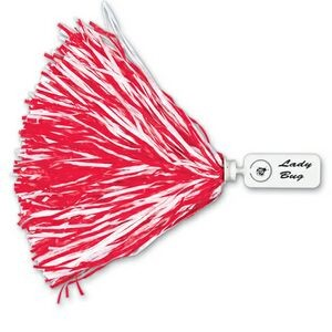 750 Strand Vinyl Pom Poms w/ Rectangle/ Token Handle (Unimprinted)
