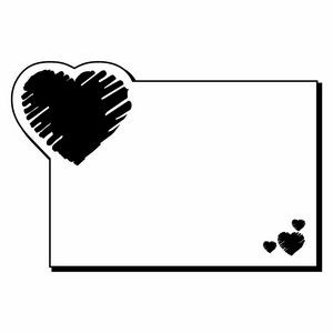 Rectangle W/ Heart Notekeeper� Magnet - 20 Mil ColorVast� (2